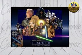 Papel De Arroz Comestível Star Wars Ataque Dos Clones