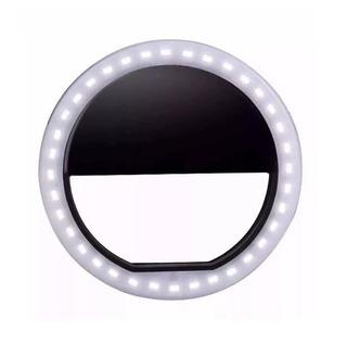 Luz De Selfie Ring Led Anel Flash Celular Recarregável