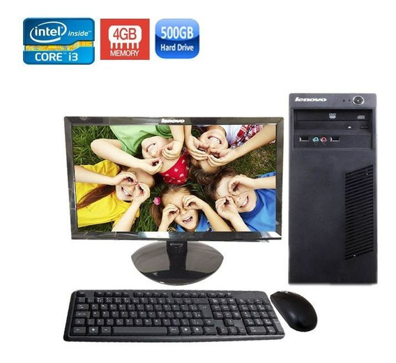 Computador Completo Lenovo Edge62 Core I3 4gb Hd500gb + Wifi