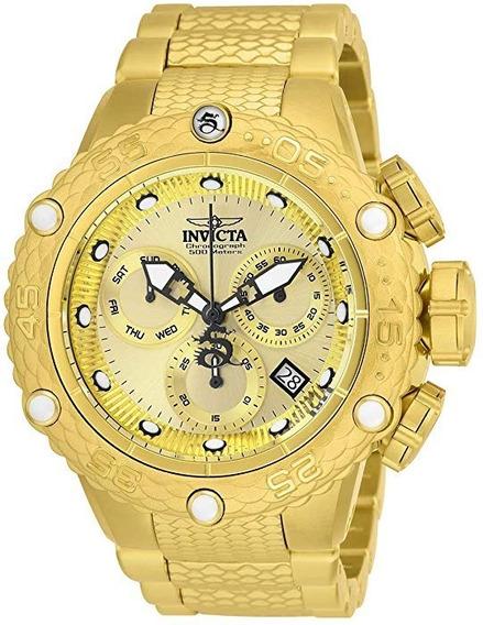 Relógio Invicta 26648 Original Subaqua Masculino Banho Ouro
