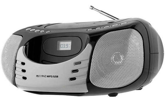 Radio Philco Display Digital Cd Player Fm Mp3 Usb 5w Rms