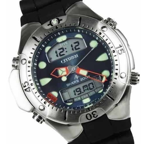 Relógio Citizen Aqualand Profundímetro Jp1060 01l Original