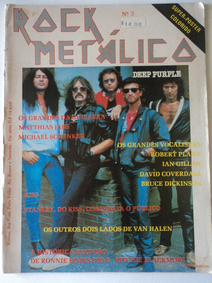 Revista-rock Metálico:#3:deep Purple,dio,michael Schenker