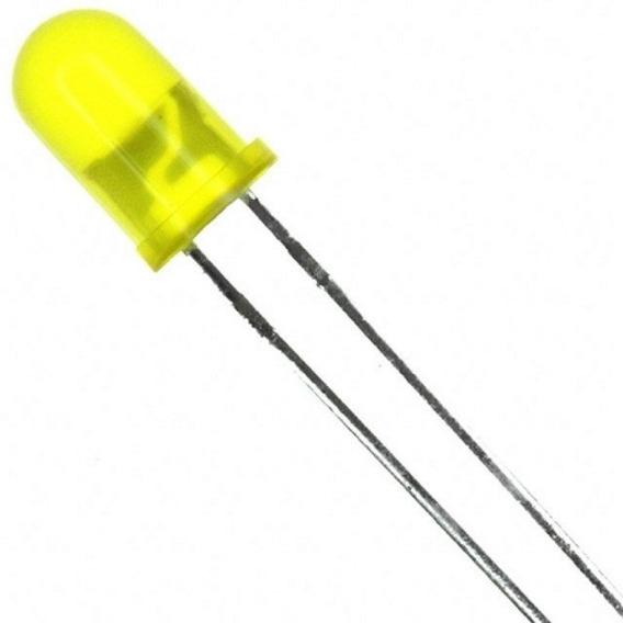 Led Difuso 5mm Amarelo Kit Com 100 Unidades - Envio Rapido
