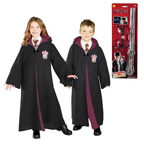 Harry Potter Gryffindor Traje Gafas Y Varita Niño Traje