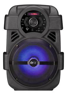 Parlante QFX PBX-8 portátil inalámbrico Black 110V/220V