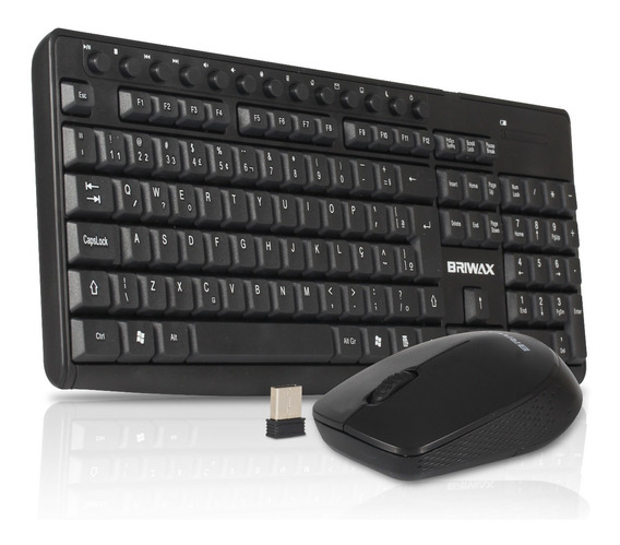 Kit Teclado E Mouse Wireless Sem Fio 2.4ghz Pc Mac Notebook