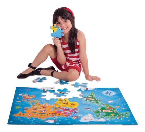 Quebra-cabeça - 48 Peças - Conhecendo O Mundo - Toyster