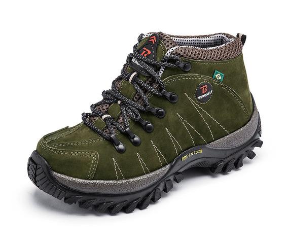 Tênis Sapato Adventure Em Couro Legítimo Unissex