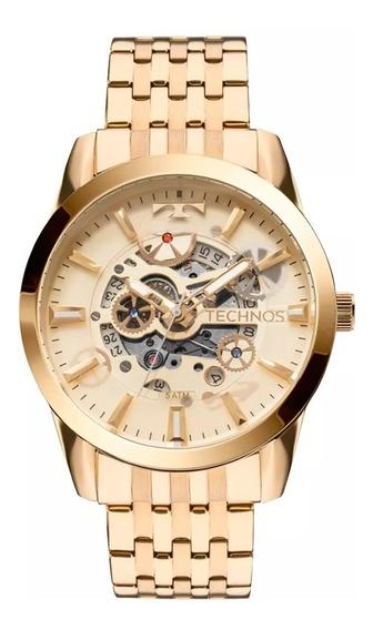 Relógio Technos Mascul Dourado Classic Automático 8205nq/4x
