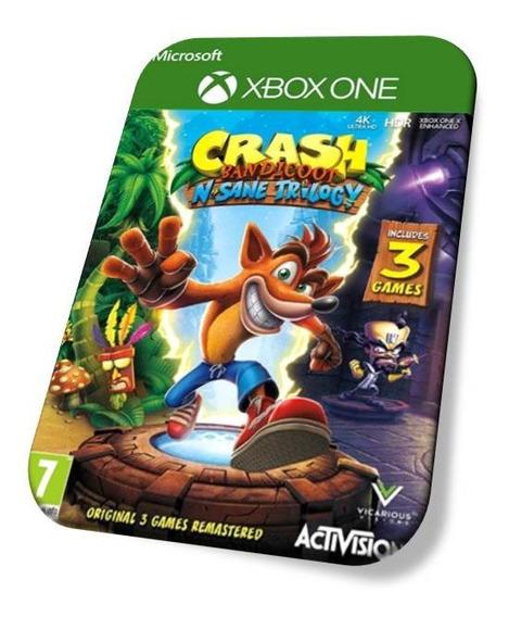 Crash Bandicot Trilogia Xbox One Digital Online Sem Queda