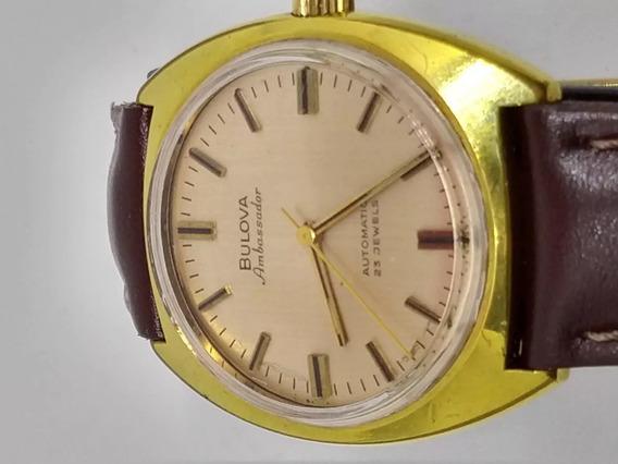 Relógio Swiss Bulova Automático -banho De Ouro
