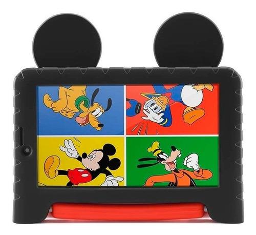 """Tablet  Multilaser M7S Plus Mickey Mouse NB314 7"""" 16GB preto/vermelho com 1GB de memória RAM"""