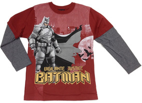 Camiseta Menino Batman Manga Longa Marlan M2008 M2014 M2016