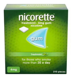 Nicorette Gum 4 Mg 210 Chicles Freshmint Dejar Fumar