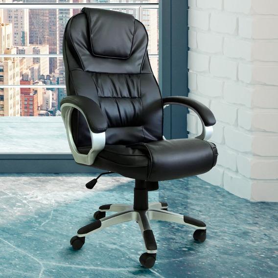 Cadeira Escritório Presidente Base Giratória Encosto Alto Premium