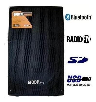 Bafle 15 Profesional Moon Digi15 Bluetooth Usb Sd Ecu 250wt.