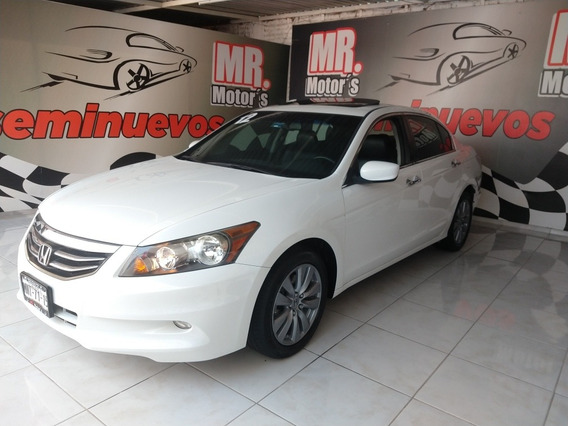 Honda Accord 2012 3.5 Ex Sedan V6 Piel Abs Qc Cd Mt