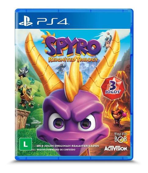 Jogo Spyro Reignited Trilogy Ps4 Novo