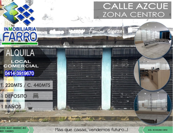 Alquiler De Local Comercial Sector Centro Al01-0035sc-ro