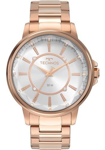 Imagem 1 de 8 de Relógio Feminino Technos Rose 2039cl/4k
