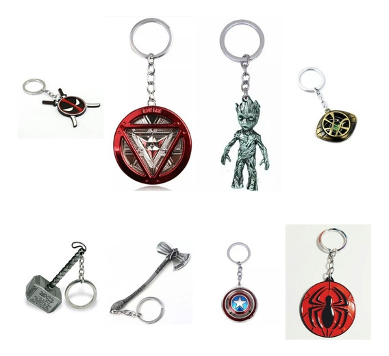 Llavero Spiderman Iron Man Capitan Marvel Vengadores Thor