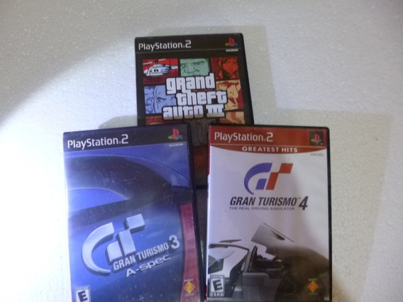 Gran Turismo 3 + 4 + Gta Iii Ps2 Originais