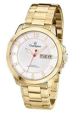 Relógio Champion Folheado A Ouro...