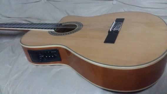 Guitarra Electroacústica Nylon Cómo Nueva Caja+funda Escucho