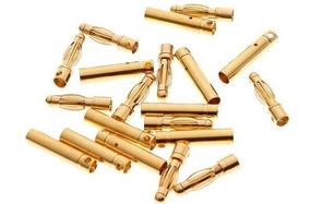 Conector Bullet Gold 04mm 10 Pares Bateria Lipo