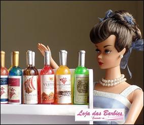 Kit 6 Garrafa Miniatura P/ Boneca Barbie Garrafinha Rement