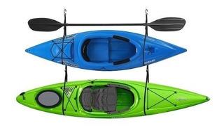 Kayak Equipo Almacenaje Para 2 Rack Ganchos Dobles