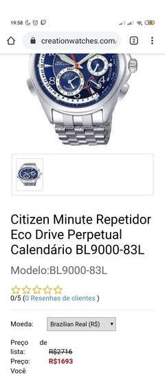 Relógio Citizen Minute Repeater