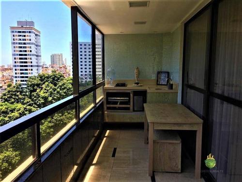 Apartamento Com 4 Dormitórios À Venda, 181 M² Por R$ 950.000,00 - Acupe De Brotas - Salvador/ba - Ap0924