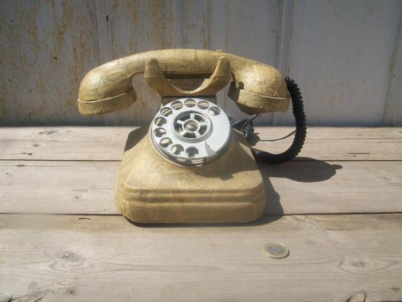 Antiguo Telefono Intervenido Decoupage Decoracion
