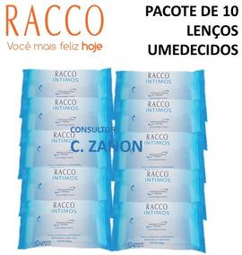 10 Pacotes D Lenços Umedecidos Higienizantes Intimos - Racco