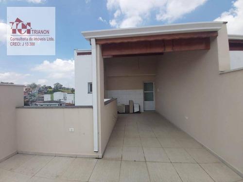 Imagem 1 de 12 de Cobertura Com 90 M² - Sem Condomínio - 2 Dormitórios (1 Suíte), 1 Vaga - À Venda Por R$ 310.000 - Vila Pires - Santo André/sp - Co0946
