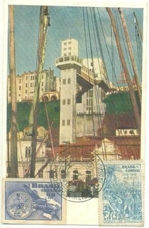Brasil 1949 Máximo Postal Bahia Elevador Lacerda Salvador