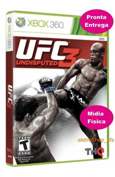 Jogo Ufc Undisputed 3 Xbox360 Mídia Física Novo Frete Grátis