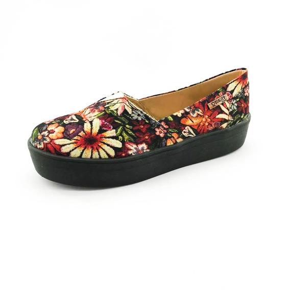 Tênis Flatform Quality Shoes Feminino 003 Floral 796 Sola Pr
