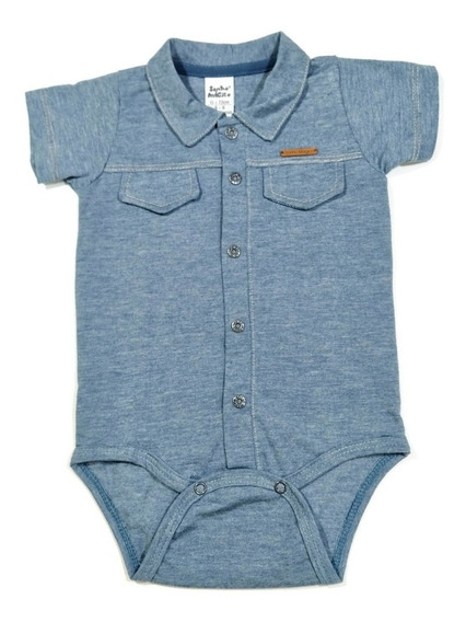 Body Bebê (branco/suedine) (azul E Vermelho/malha) Meninos