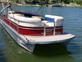 Pontoon Party Boat Lowe Voyager En 25 Pies Para Paseo