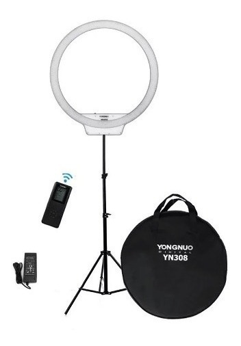 Ring Light Led Yongnuo Yn308 + Tripé