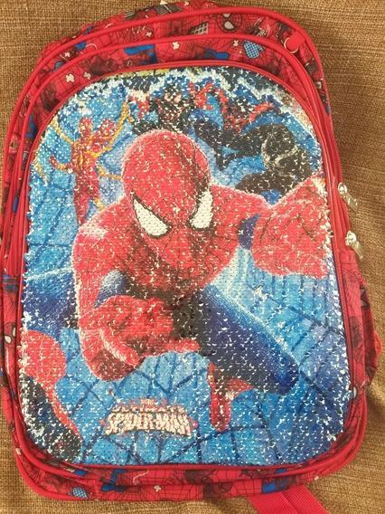 Bolsa Mochila Infantil Homen Aranha Muda O Desenho