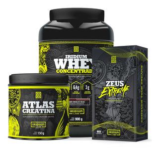 Kit Whey Protein Concentrado + Creatina + Zeus Extreme Zma