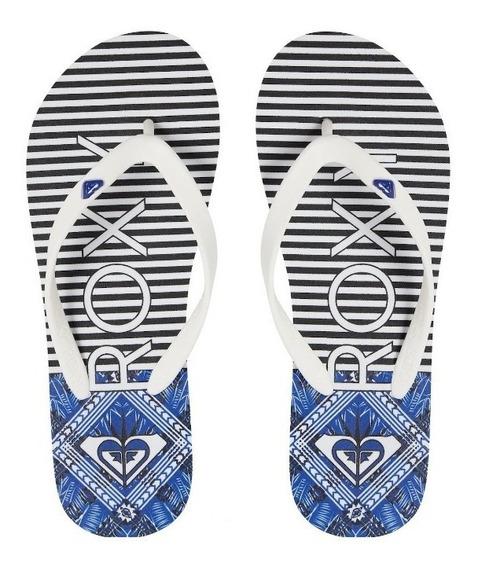 Sandalias Roxy Mujer Blanco Azul Tahiti Arjl100719wny