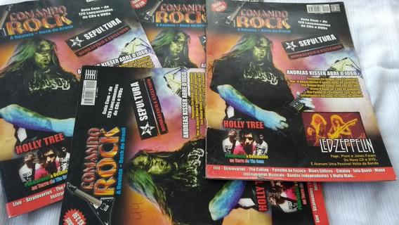 Comando Rock Número Um Lote Com 4 Revistas Iguais Revenda
