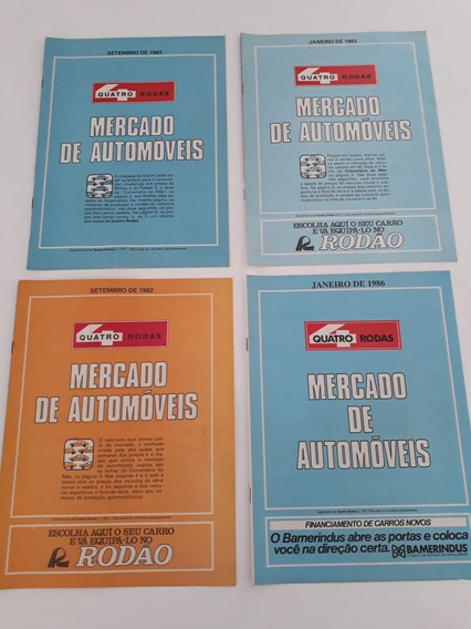Encarte Revista Mercado De Automóveis Década De 80