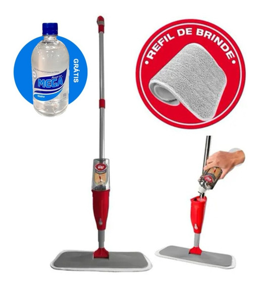 Mop Spray Com Reservatório 460ml Fw006127 Wap + Refil Extra