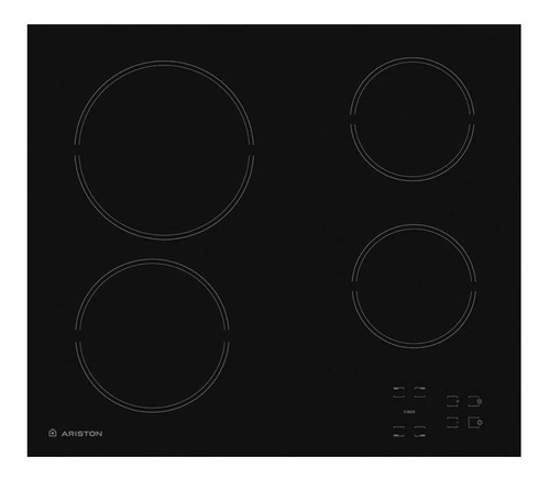 Imagen 1 de 1 de Anafe eléctrico Ariston HR 611 C A negro 220V - 240V